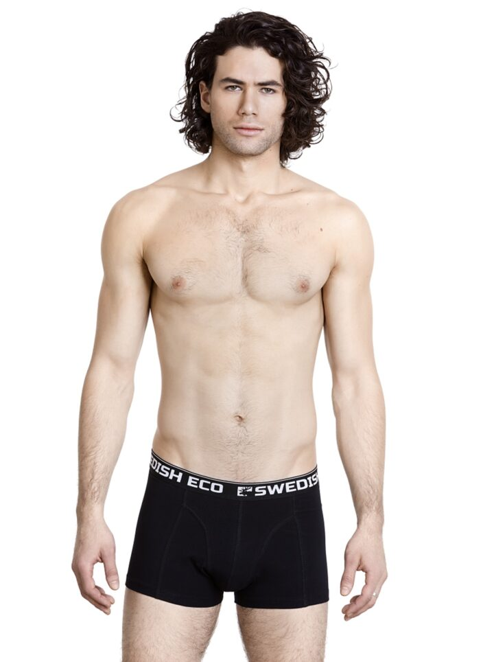 Swedish Eco Organic Cotton Underwear Black GOTS certified