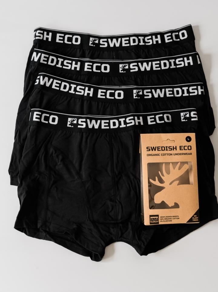 Black organic boxer bundle pack